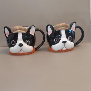 Charming Matching Set of Dog Mugs